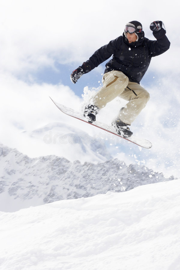Het extreme snowboarding