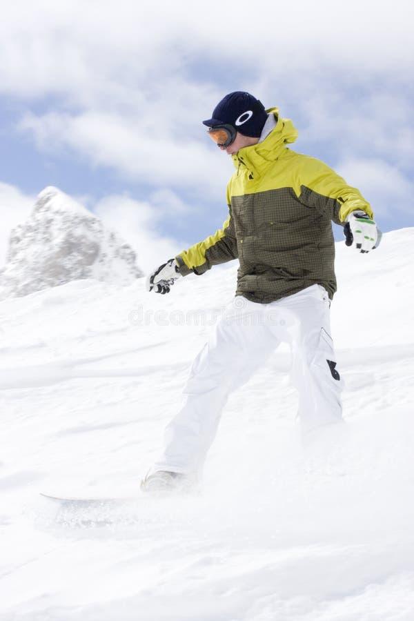 Het extreme snowboarding stock afbeeldingen