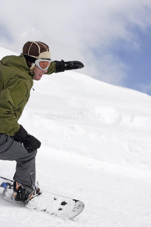 Het extreme snowboarding royalty-vrije stock afbeelding