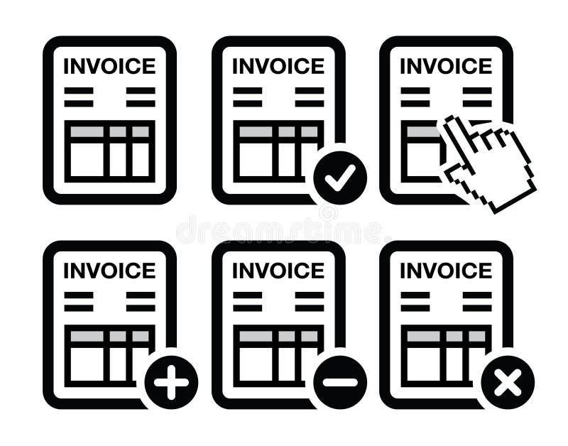 Rekening, geplaatste financiënpictogrammen vector illustratie
