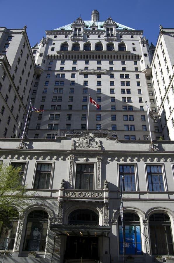 Het Fairmont-Hotel Vancouver stock afbeelding