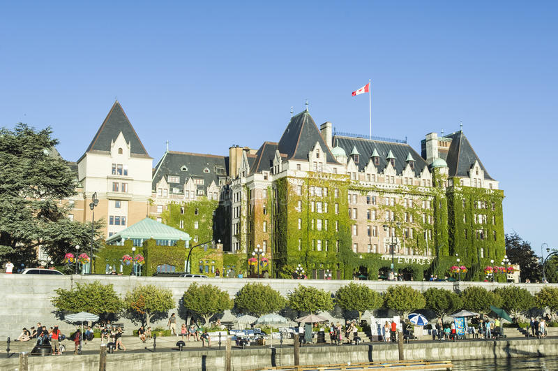 Het Fairmont-Keizerinhotel, Victoria, Canada royalty-vrije stock fotografie