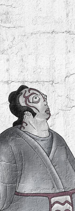 Het fantasierijke karakter trekt stock illustratie