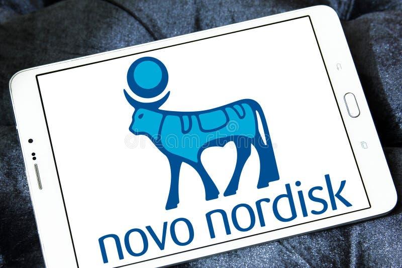 Het farmaceutische bedrijfembleem van Novo Nordisk stock afbeeldingen