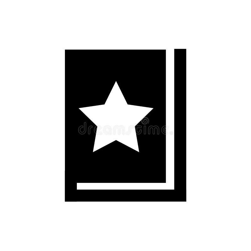 Het favoriete vectordieteken en het symbool van het Boekpictogram op witte achtergrond, het Favoriete concept van het Boekembleem stock illustratie
