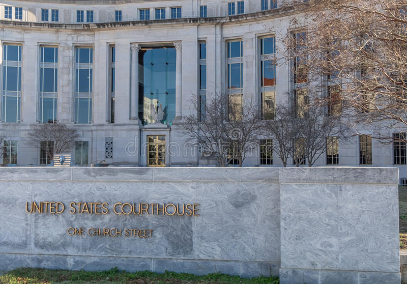 Het federale gerechtsgebouw in Montgomery Alabama stock foto's