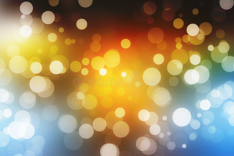 Het feestelijke mooie multikleuren bokeh licht, defocused onduidelijk beeldachtergrond stock afbeelding