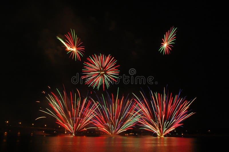 Het Festival 2006 van het Vuurwerk van Singapore stock foto