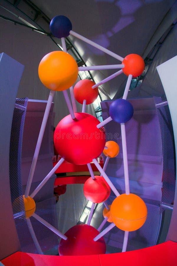 Het Festival 2009 van de wetenschap - banden tussen atomen stock foto