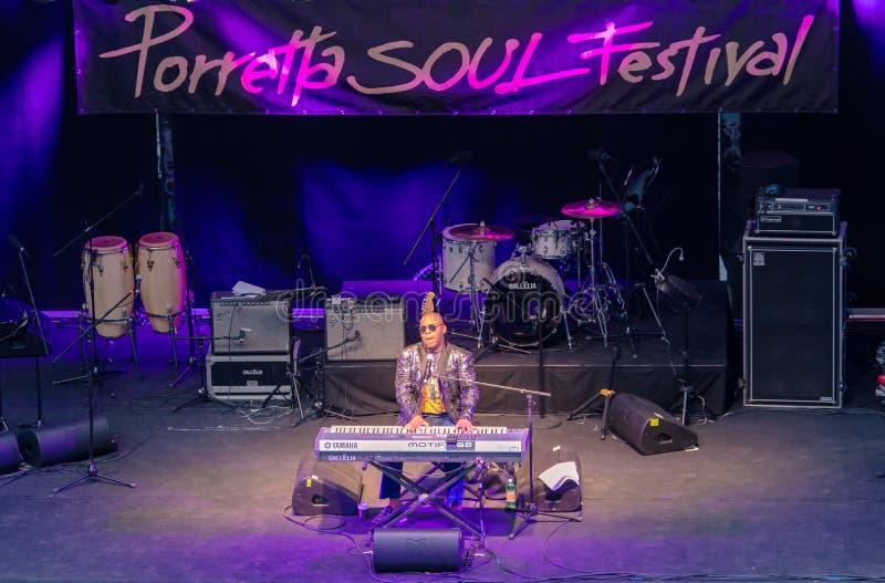 Het Festival dertigste uitgave van de Porrettaziel, Porretta Terme 20 tot 23 Juli royalty-vrije stock afbeeldingen