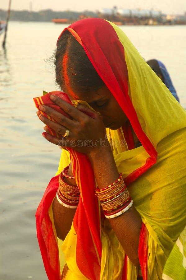 Het Festival van Chatt in India. royalty-vrije stock fotografie