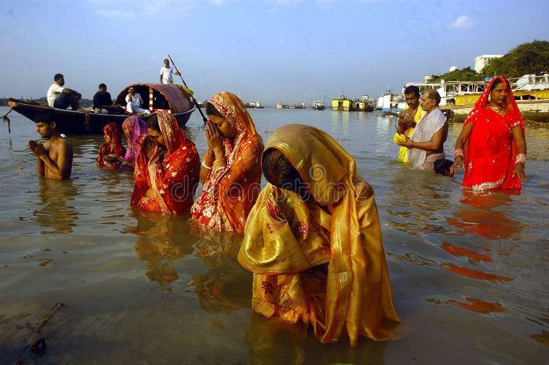 Het Festival van Chatt in India. royalty-vrije stock afbeeldingen