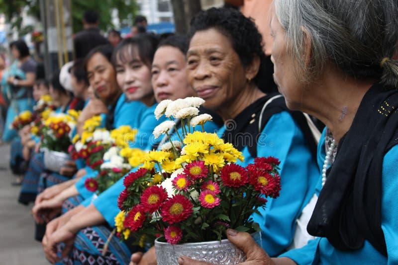 Het festival van Chiangmaibloemen royalty-vrije stock foto