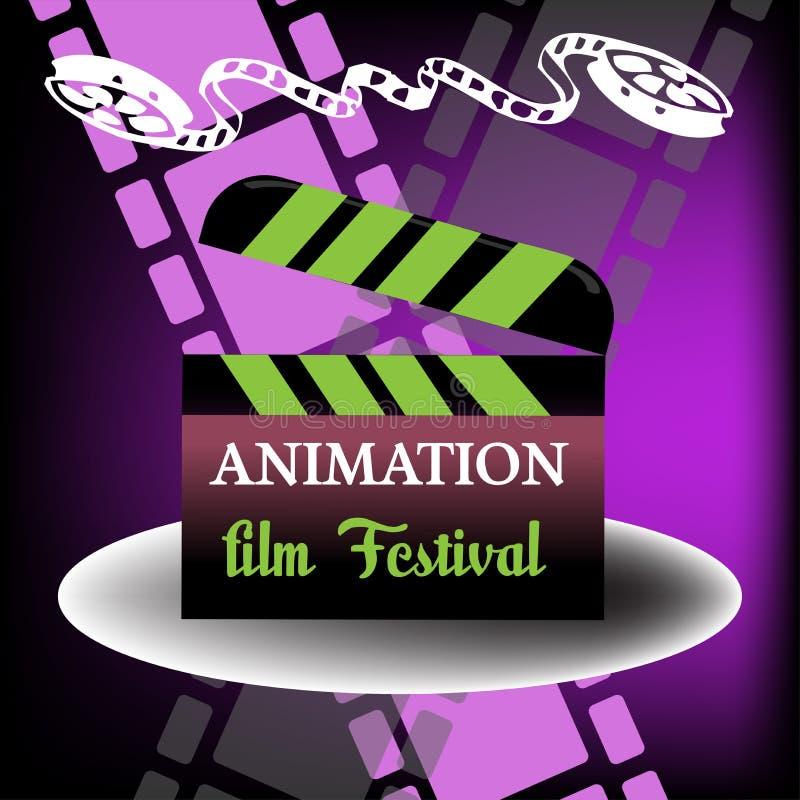 Het festival van de animatiefilm royalty-vrije illustratie