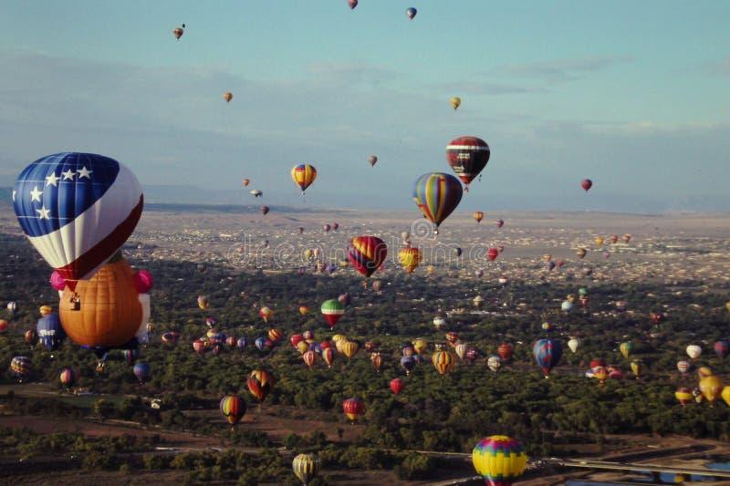 Het Festival van de de Hete Luchtballon van Albuquerque stock fotografie