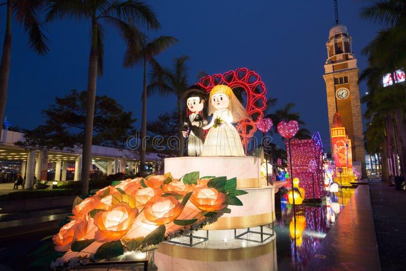 Het Festival van de de lentelantaarn in Hong Kong stock foto's
