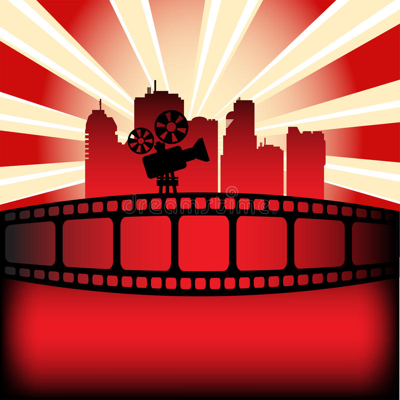 Het festival van de film royalty-vrije illustratie