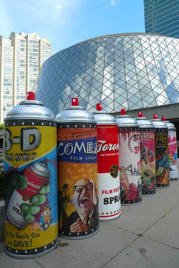 Het Festival van de Film van Toronto en kunstinstallatie royalty-vrije stock foto