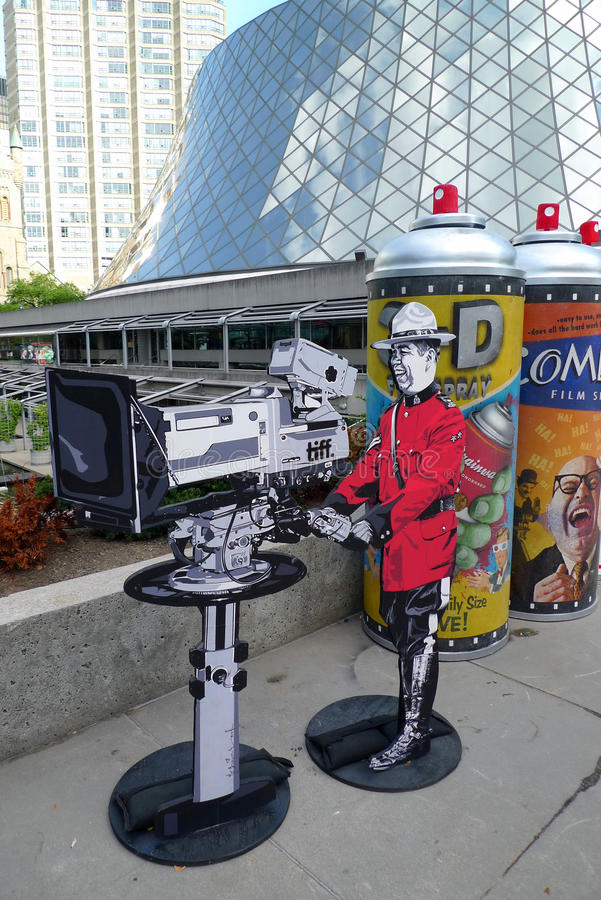 Het Festival van de Film van Toronto en kunstinstallatie stock afbeeldingen