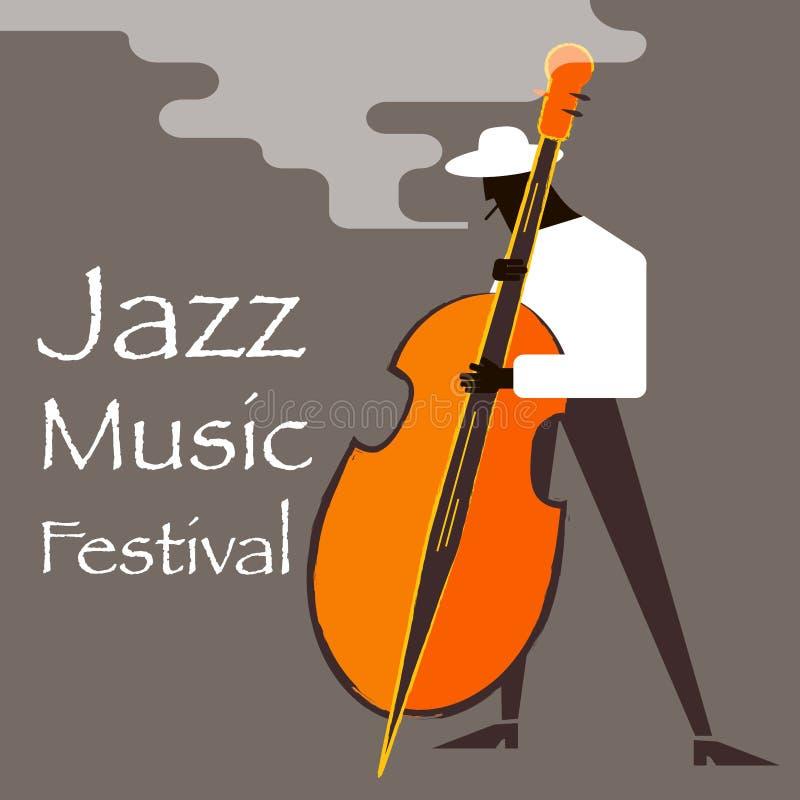 Het festival van de jazzmuziek stock illustratie