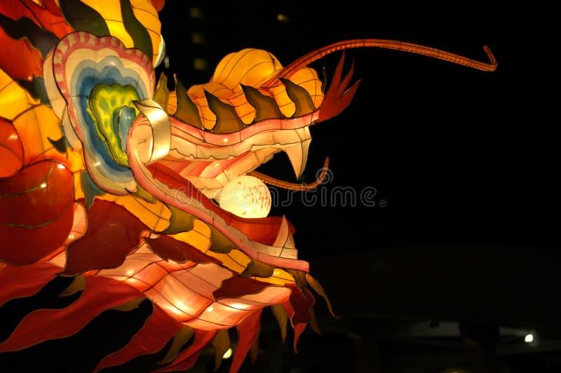 Het Festival van de lantaarn in Singapore, Draak stock foto's