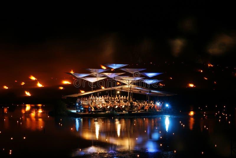 Het Festival van de Muziek van het Meer van Leigo. Leigo, Estland stock afbeelding