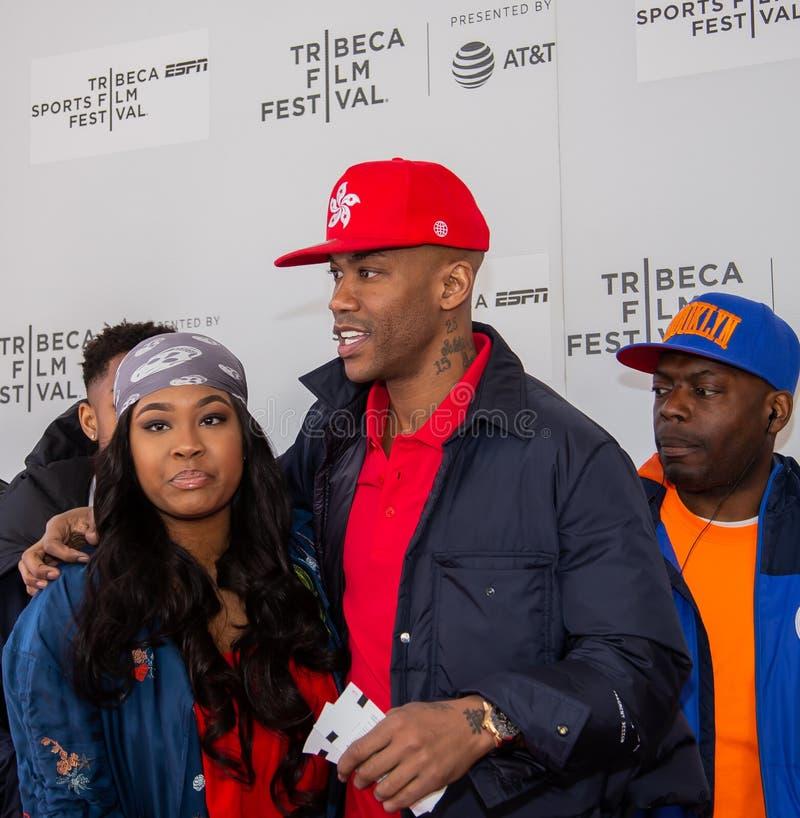 Het Festival van de Tribecafilm - Rood Tapijt vóór première van documentair 'Jong geitje van Coney Island ' stock afbeeldingen