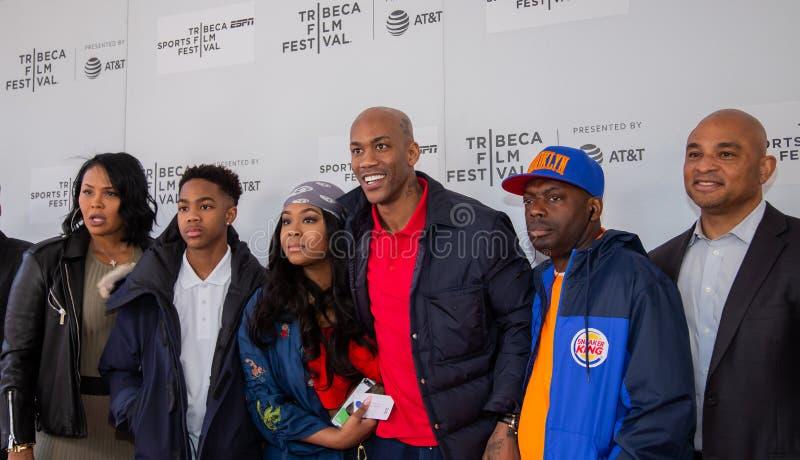 Het Festival van de Tribecafilm - Rood Tapijt v??r premi?re van documentair ?Jong geitje van Coney Island ? royalty-vrije stock fotografie