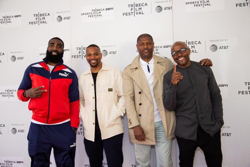Het Festival van de Tribecafilm - Rood Tapijt v??r premi?re van documentair ?Jong geitje van Coney Island ? stock fotografie