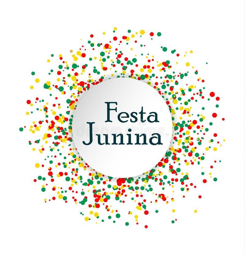 Het festival van Festajunina Brazilië Abstract die patroon van gekleurde punten op witte achtergrond wordt gemaakt stock illustratie