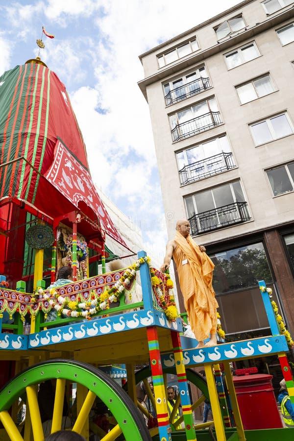 Het festival van hazenkrishna in Londen stock foto
