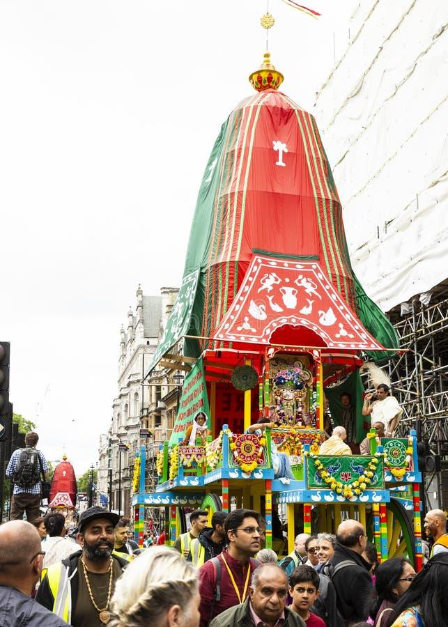 Het festival van hazenkrishna in Londen royalty-vrije stock fotografie