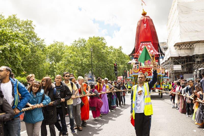 Het festival van hazenkrishna in Londen royalty-vrije stock afbeeldingen