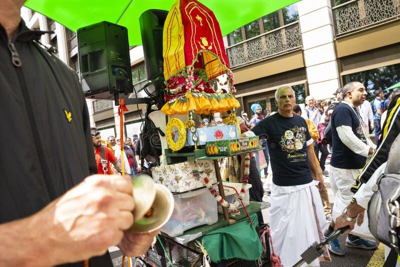 Het festival van hazenkrishna in Londen stock afbeeldingen