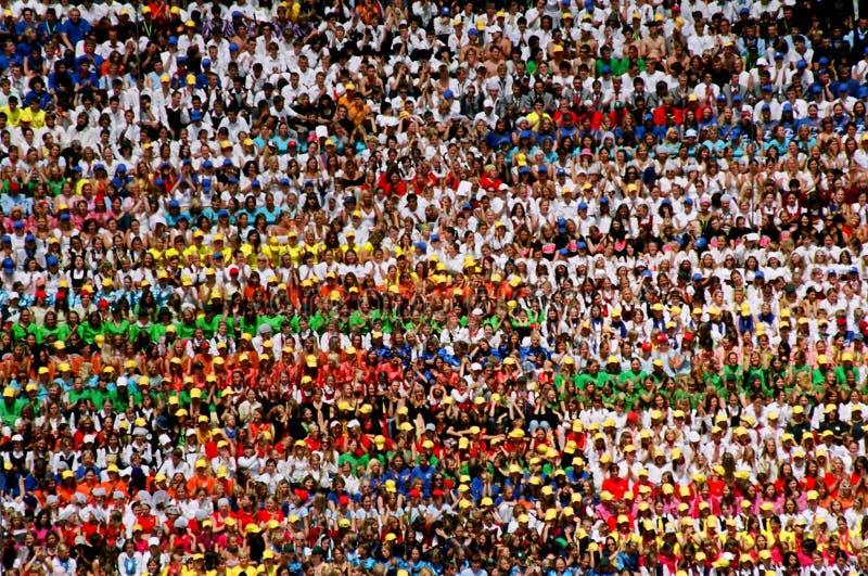 Het festival van het lied in Riga, Letland   stock fotografie