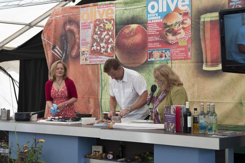 Het Festival 2012 van het Ludlowvoedsel stock afbeeldingen