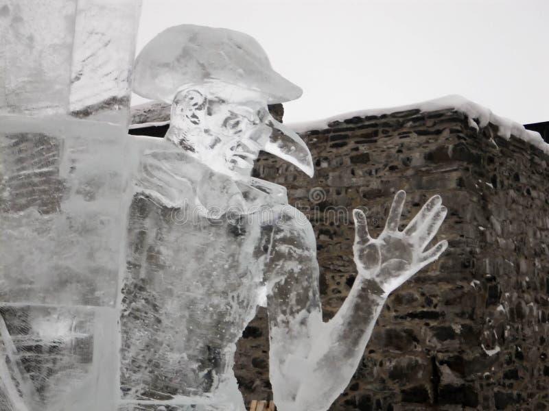 Het festival van het ijsbeeldhouwwerk in Savonlinna stock afbeelding