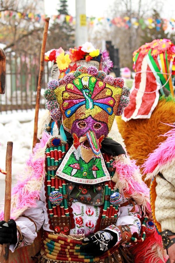 Het festival van Kukeri stock foto