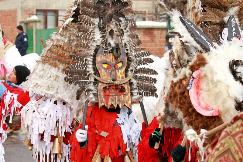 Het festival van Kukeri royalty-vrije stock foto