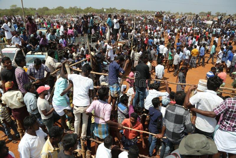 Het festival van Manjuvirattu royalty-vrije stock afbeelding