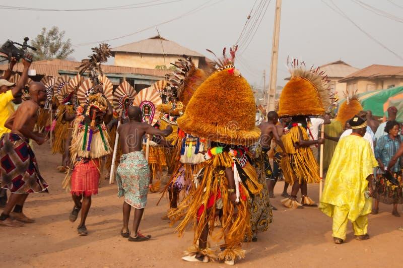 Het Festival van Otuoukpesose - Itu Maskerade in Nigeria royalty-vrije stock afbeelding