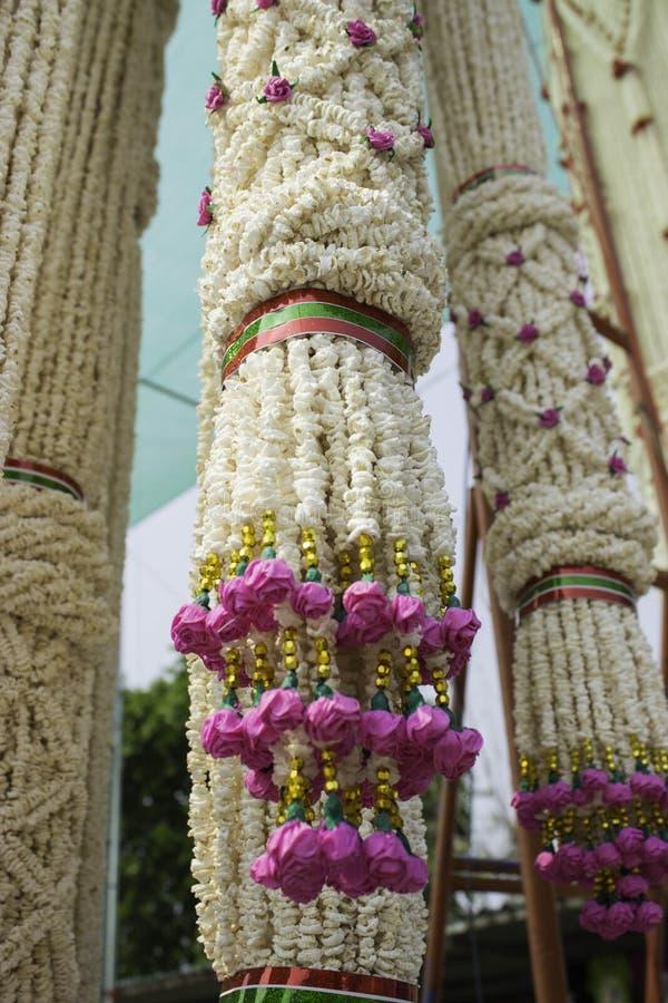 Het Festival van rijstkronen, THAILAND stock afbeelding