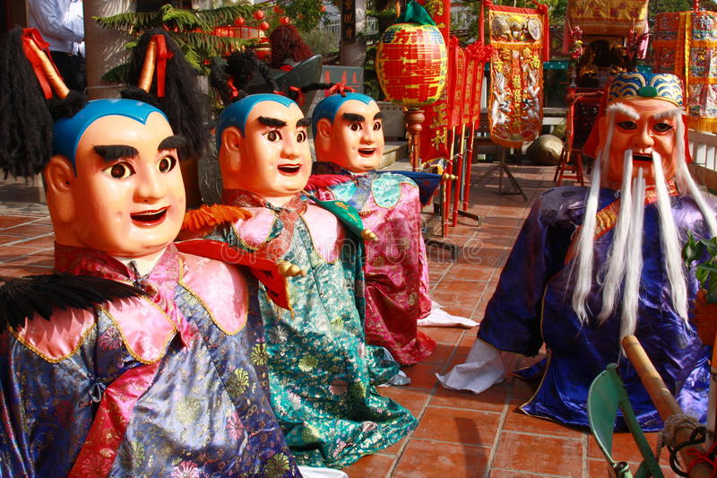 Het festival van tempel in Taiwan in Azië royalty-vrije stock foto