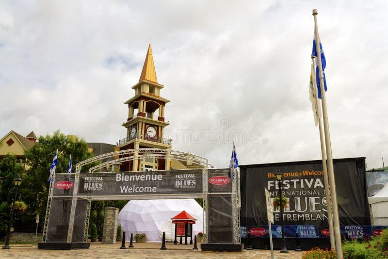 Het Festival van Tremblantblauw stock afbeeldingen