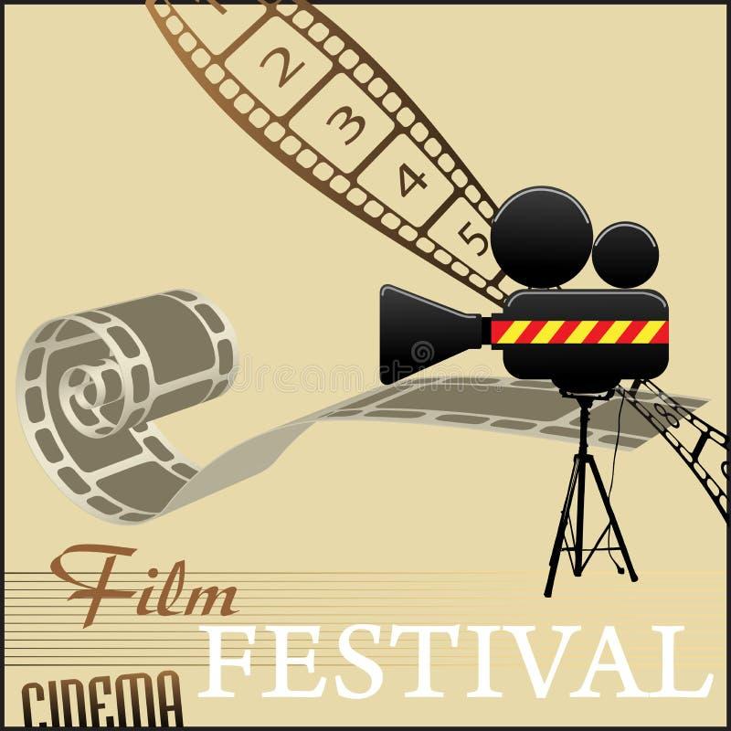 Het festivalachtergrond van de film vector illustratie
