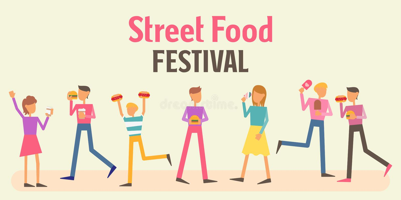 Het Festivalbanner van het straatvoedsel vector illustratie