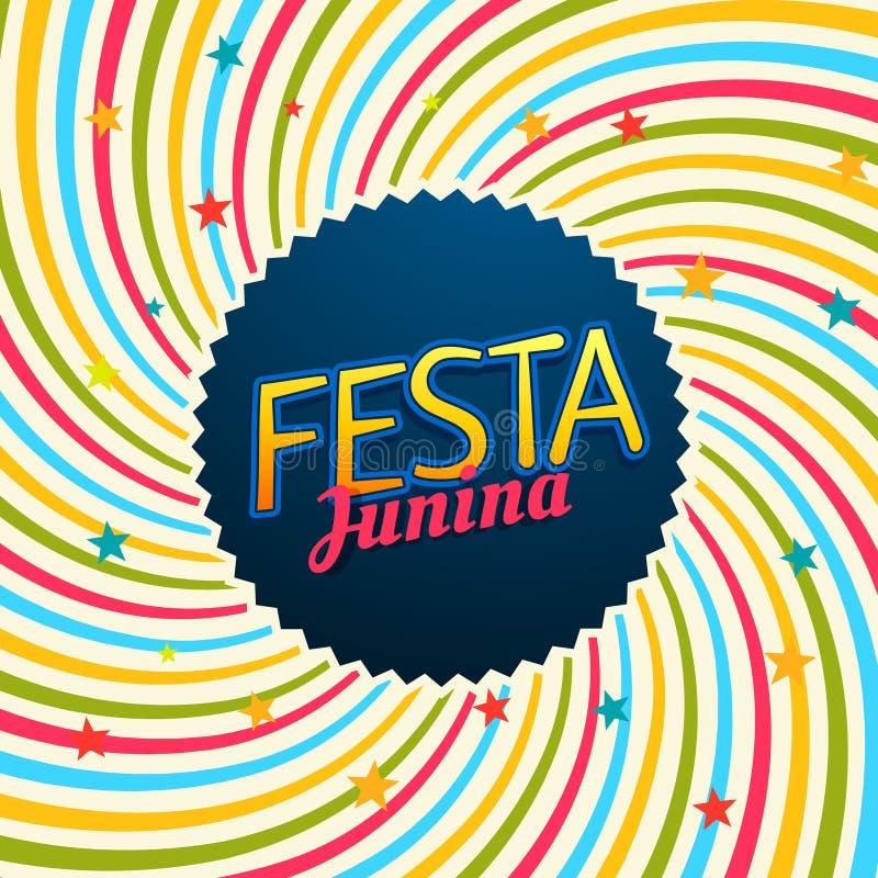 Het festivalillustratie van Carnaval van Festajunina stock illustratie