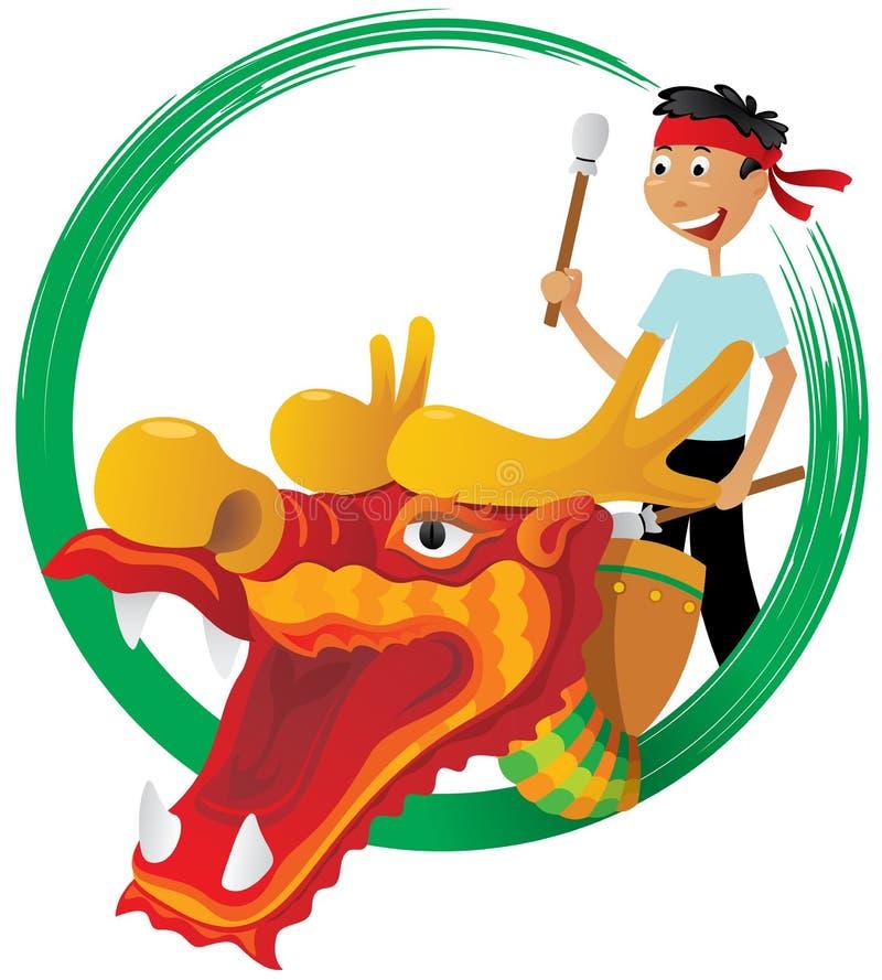 Het festivalillustratie van de draakboot stock illustratie
