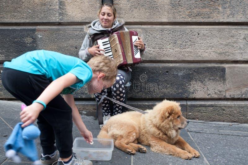 """Het Festivalrand 3†""""27 Augustus 2018 van Edinburgh Het uitspreiden zich, divers en enkel een klein gek beetje royalty-vrije stock foto"""