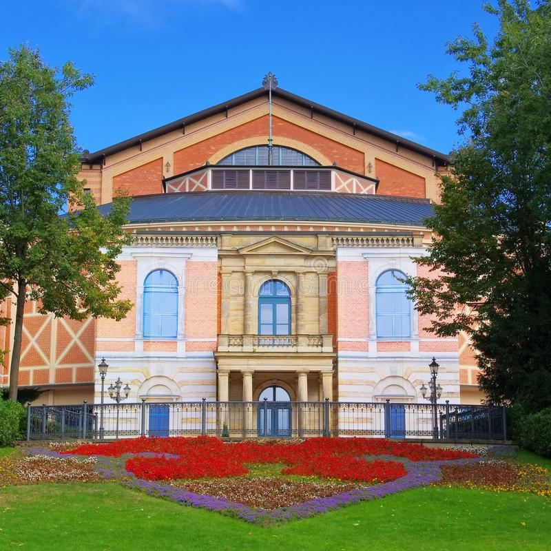 Het Festivaltheater van Bayreuth royalty-vrije stock foto